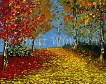 Autumn Splendor, Printable Art, Autumn Art, Home Decor, Nature, Acrylic, Wall decor, Instant Download