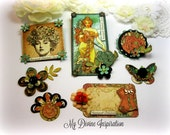 Graphic 45 Steampunk Debutante Handmade Paper Embellishments for Scrapbook Layouts Cards Mini Albums Tags and Papercrafts