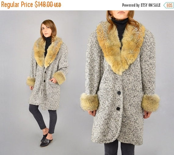 MAY SALE 80's FORENZA Tweed Boyfriend Coat