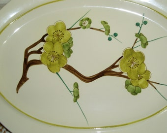 Red Wing Plum Blossom Yellow Platter