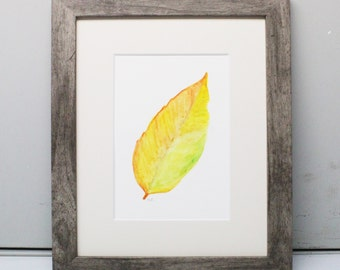 Original Artwork Watercolor Painting Fall Leaf