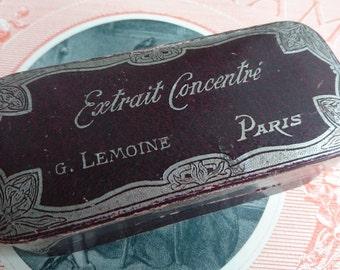 Beautiful antique French PARIS  perfume box c1900 Boudoir Brocante tres belle.