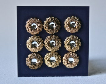 Gold & Rhinestone Buttons for Crafts and Sewing