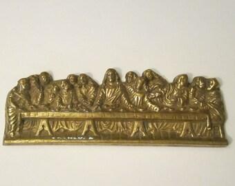 Last Supper Brass Plaque - Vintage Religious Art