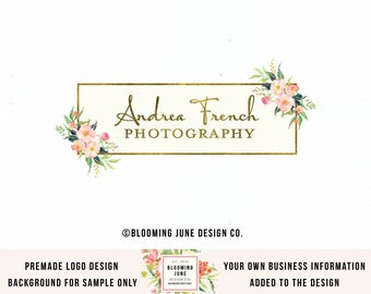 photography logo premade logo event planner logo wedding logo florist logo photographer logo jewelry design logo make up artist logo