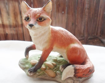 BOEHM Porcelain Bisque RED FOX Figurine - #40108