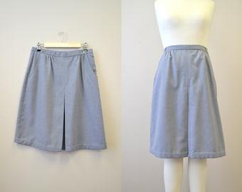 1970s Gray A-line Skirt