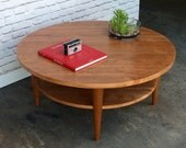 IN STOCK!!! Round Coffee Table - Oxelaand - Solid Cherry