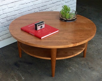 Round Coffee Table - Oxelaand - Solid Cherry - In Stock!