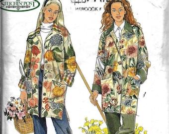 Simplicity 8807 Misses' Gardening Jacket Coat Stitchin Post Sewing Pattern UNCUT Size S, M, L, XL