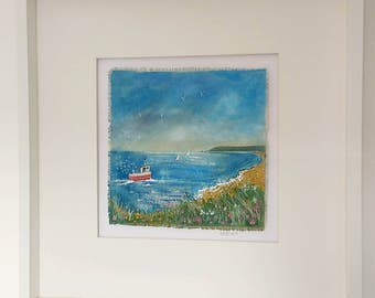 The Bay - An original mixed media by Kate Brazier