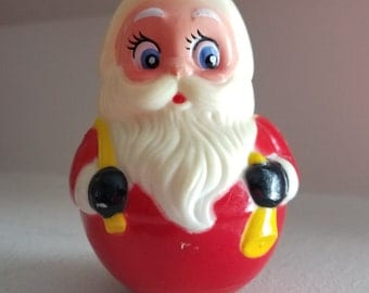 Vintage Santa Claus Weeble Wobble Toy, Kiddie Products Inc. Avon, Mass