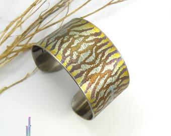 Titanium handmade Bracelet - Tiger