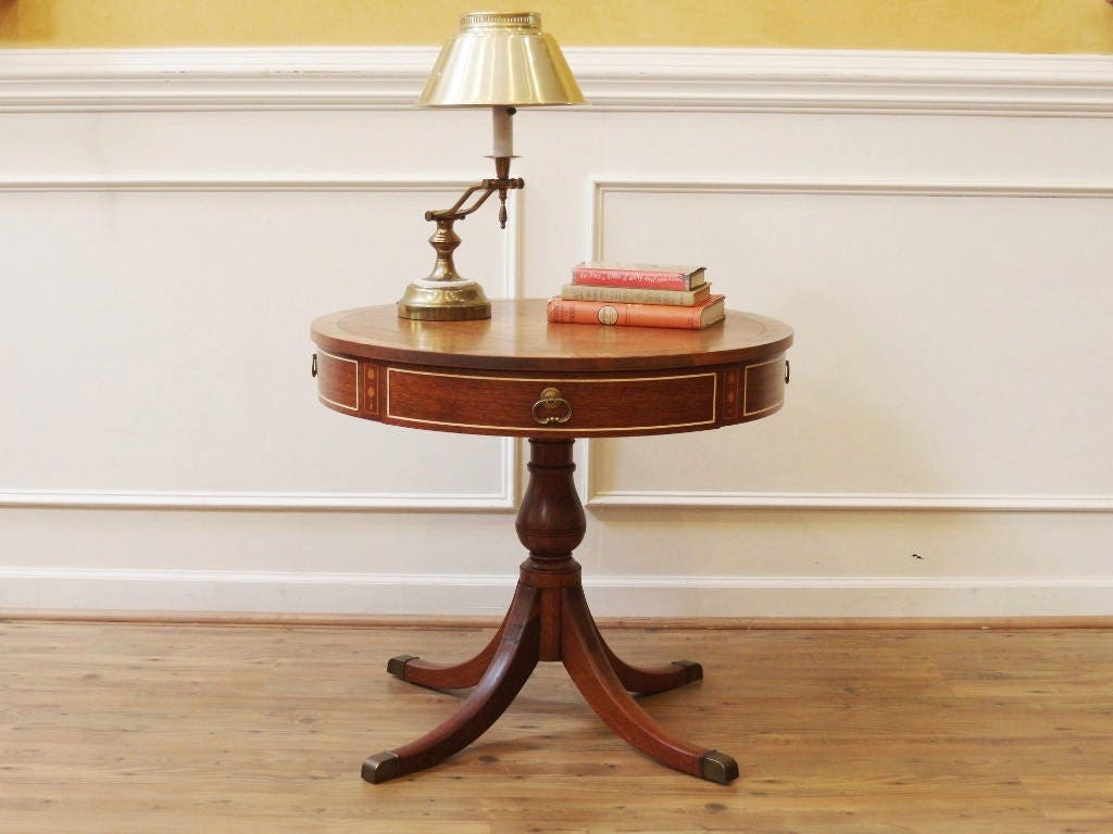 Details about 48 inch round formal duncan phyfe rosewood dining table - Vintage Round Pedestal Drum Table Duncan Phyfe Side 48 Inch Round Dining Table With Drawers Rosewood
