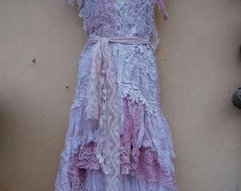 "20%OFF vintage inspired shabby bohemian gypsy dress ..smaller to 34"" bust..."