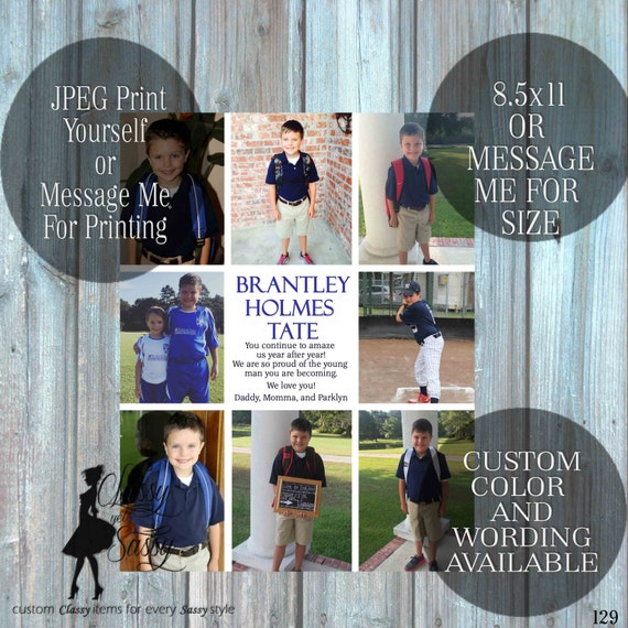 Senior Year Book Ad Template, Yearbook Ad template, Picture collage, 129