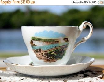 Teacup Cup and Saucer, Canadian Coat of Arms, Niagara Falls, Regency Bone China 13171