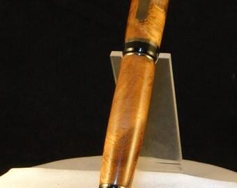 """Handcrafted wooden twist type pen """"Big Ben"""" Monkey Pod Wood"""