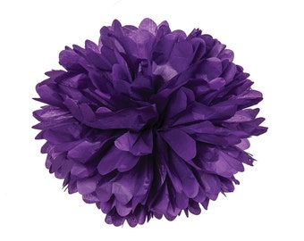 Purple Tissue Pom Poms 4, 6 or 8 inch Single or Sets of 2 /Weddings/Showers/Birthdays/Parties