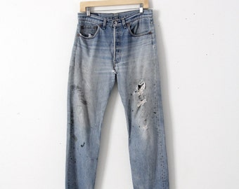 vintage 501s, Levis 501xx denim jeans, 33 x 30
