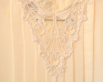 Classsic vintage vanilla cream blouse with ruffles and lace