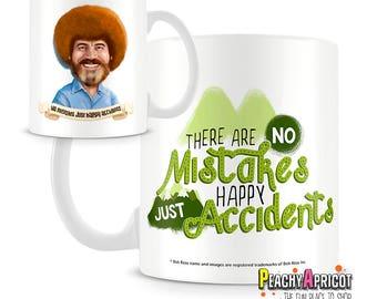 Bob Ross - Happy Accidents Mug - Bob Ross The joy Of Painting officially licensed mug - Bob Ross quote mug - gift for artists nature lovers