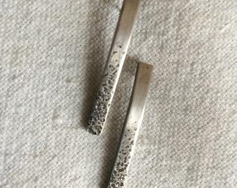 Dotty Silver Bar Earrings