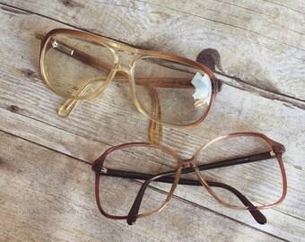 Set of Retro Glasses - Luxottica