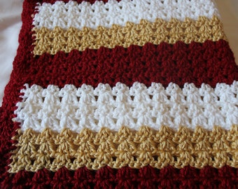 Crochet Baby Blanket- San Francisco 49ers