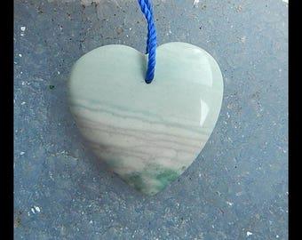 Carved Wave Jasper Heart Pendant Bead,25x7mm,6g(c0773)
