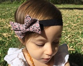 Girl Hair Bow - Patterened Tie