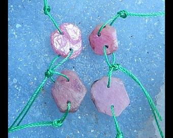 Nugget Ruby  Gemstone Earring Beads,15x13x4mm,12x12x3mm,5.1g