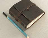 Leather Notebook. Leather Journal, Blank Book, Small Sketch Book