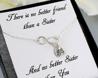 Sterling Silver Infinity Bracelet  - Personalized Infinity Bracelet - Dainty Initial Charm - Sister Gift Bridesmaids
