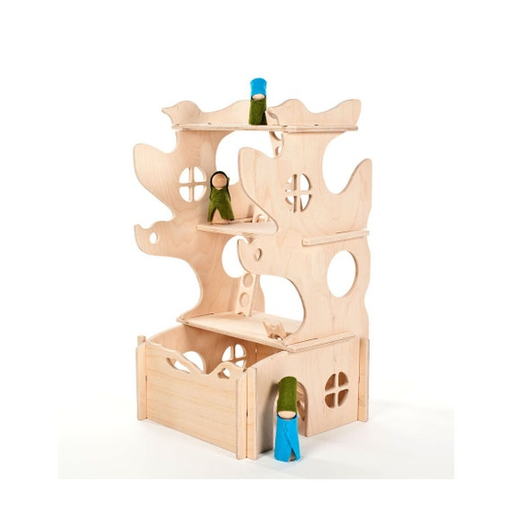 Modular Tree House Toy // This Modular Natural Building Toy will Challenge Kids' Creativity // Wmodern wood toy // Modern Dollhouse