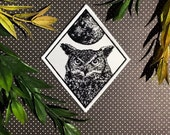 Owl Patch Moon Patch Iron On Woven Patch Embroidered Patch Horned Owl Iron-On Patch Patchgame Howling Wolf Patch Wolf Full Moon Patch set
