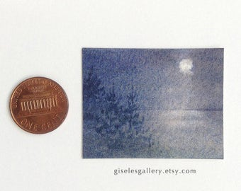 Dollhouse miniature painting - original watercolor 1:12 scale