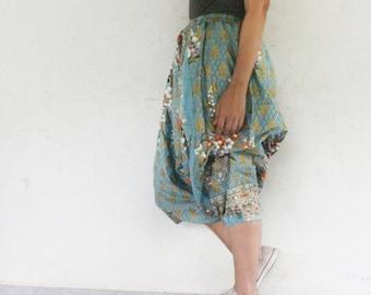 maroon flowers harem pants handmade Thai batik sarong,yoga,spa,hippie, boho,bohemian, gypsy,jumpsuit,genie ,baggy trousers,unisex pants.
