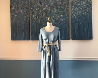 Organic jersey dress with hanbok tie