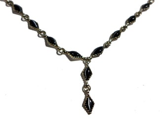 Sterling Silver Fashion Cluster Statement Necklace
