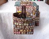 Scrap Bag Pincushion Organizer - Sewing caddy - Scrap Caddy - Thread Catcher - Catch All Scrap Caddy - Snippets - Scrap Bag Organizer