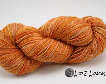 Hand Dyed Royal Baby Alpaca Yarn Sock Weight - Citrus Fiesta