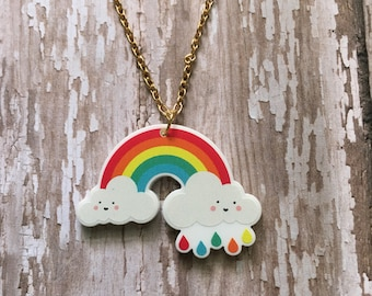 Happy rainbow necklace
