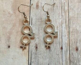 Gender equality earrings