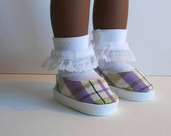 Ruffle socks for Wellie Wisher doll