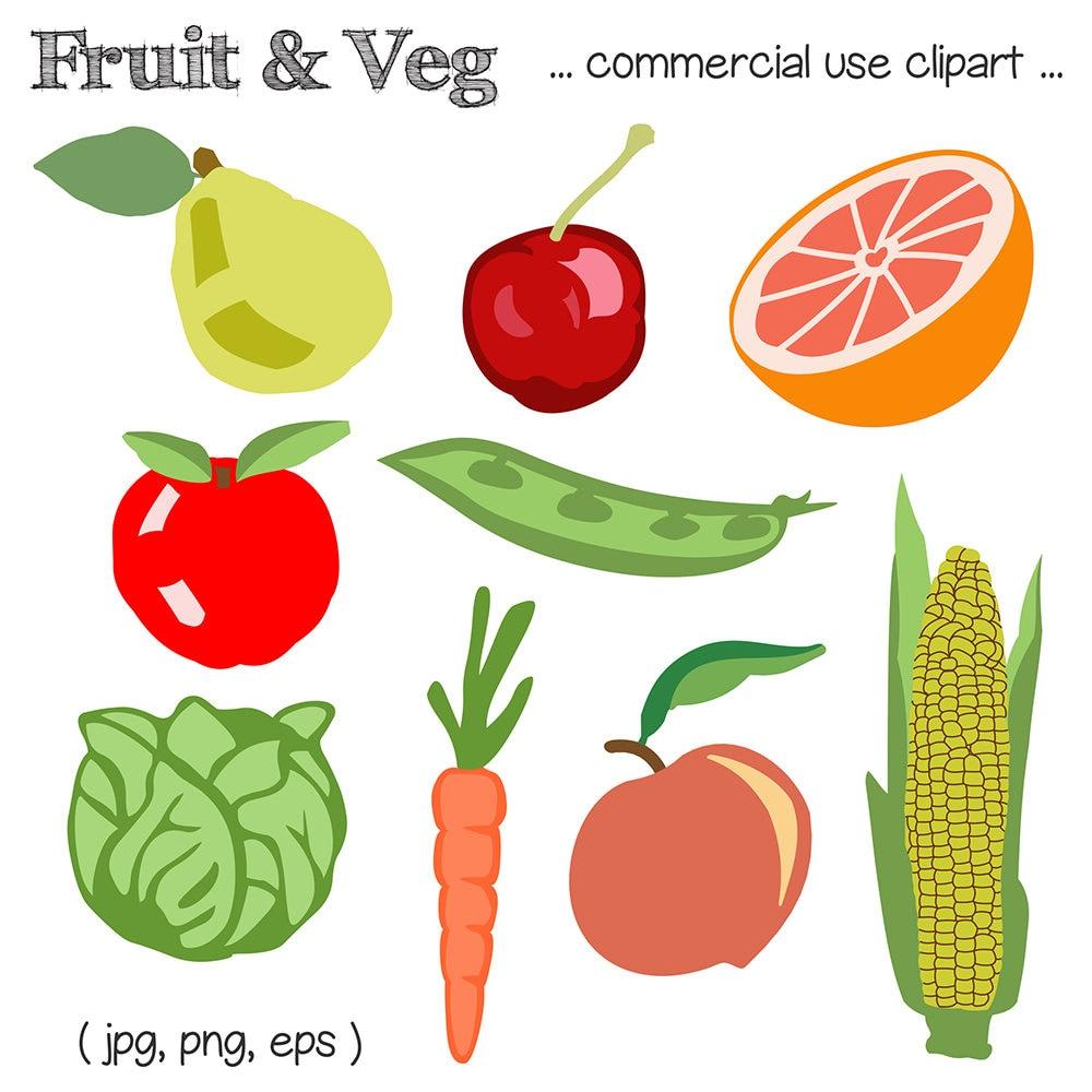 Fruit Clipart Vegetable Clipart Veggie Clipart Food