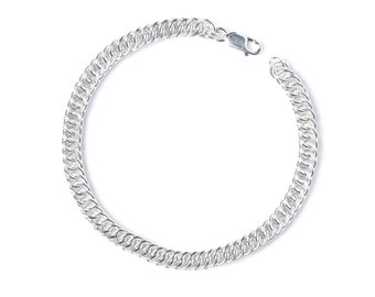 Chainmail Bracelet, Sterling Chainmail, Half Persian, 25 Year Anniversary, 25th Anniversary, Gift for Her, Delicate Chain Bracelet, Canada