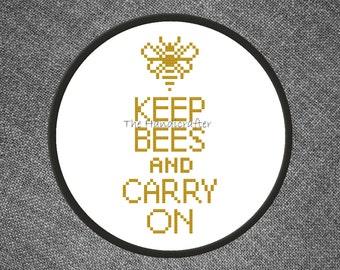 Beekeeping Cross Stitch Pattern