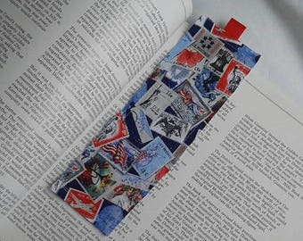 Postage Stamp Bookmark / Fabric Bookmark / Stamp / Bookmark