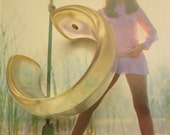 60's Vintage  Mod Clear Lucite Designer Bracelet Signed rare